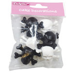 Culpitt Cake Decorations Rings -Skull & Crossbones- 6/Pkg