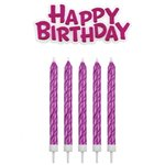 PME CANDLES & HAPPY BIRTHDAY PINK