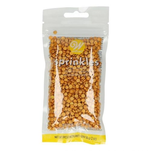 WILTON SPRINKLES -GOLD SMALL CONFETTI- 56G